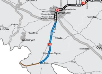 S8 z Wrocławia do Kłodzka będzie powstawała w trzech odcinkach
