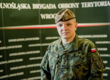 płk Artur Barański - dowódca 16. Dolnośląskiej Brygady Obrony Terytorialnej
