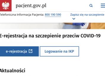 Szczepienia na COVID-19: rejestrować może się każdy pełnoletni.