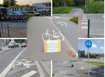 """""""Ku pamięci znaków poziomych, które przetrwały remonty i mylą rowerzystów"""" - tablica pamiątkowa od Akcji Miasto"""
