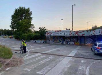 Wypadek rowerzystów pod pl. Społecznym