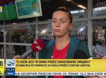 """Polscy pływacy wrócili z Tokio. Wśród nich Alicja Tchórz: """"Traktują nas jak mięso"""""""