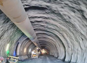 Drążenie tunelu na S3 na półmetku