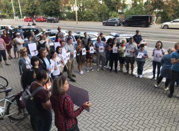 Niedzielny protest przed KWP