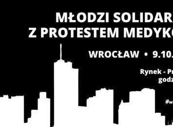 Wrocław - Młodzi solidarnie z Protestem Medyków