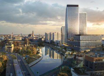 Przy ulicy Sikorskiego rusza budowa kompleksu biurowców ze 140-metrowym wieżowiecem