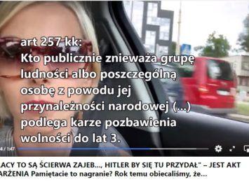 Publiczne pochwalanie Hitlera i obrażanie Polaków. Wrocławski sąd skazał autorkę nagrania z sieci.